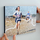 Marathon Runners Map Photo Block