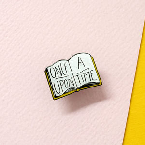 25mm Once Upon A Time Book Enamel Pin Badge - pins & brooches