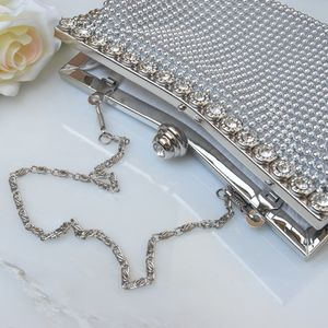 Victoria Beaded Bridal Clutch Bag In Ivory Or Silver