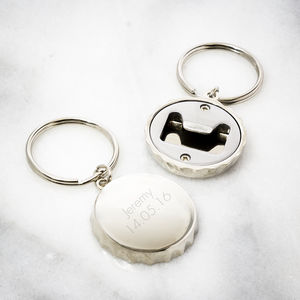 Personalised Bottle Opener Keyring - corkscrews & bottle openers