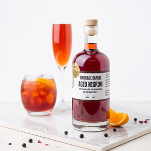 Bordeaux Aged Negroni Craft Gin Cocktail - artisan alcohol