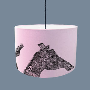 Giraffe Lampshade With Fabric Colour Options - lampshades