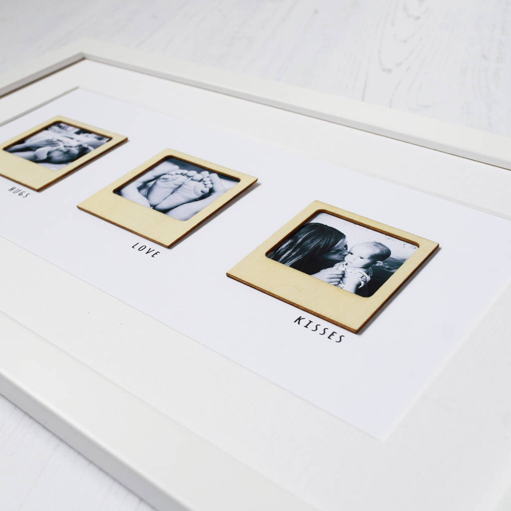 personalised mini wooden photo frames print by jodie gaul ...