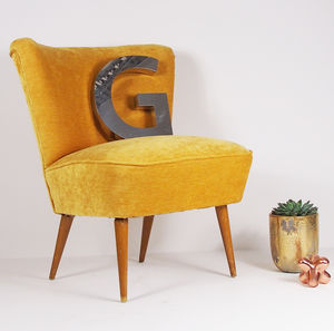 The Bartholomew Cocktail Chair In Dandelion Yellow - furniture