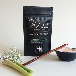 Lemongrass And Tea Tree Oil Himalayan Salt Scrub 200g - bathroom