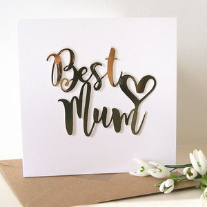 'Best Mum' Luxe Gold Card - birthday cards