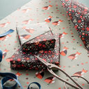 Double Sided Fox Floral Wrapping Paper Pack