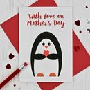 Penguin Themed Mother's Day Card