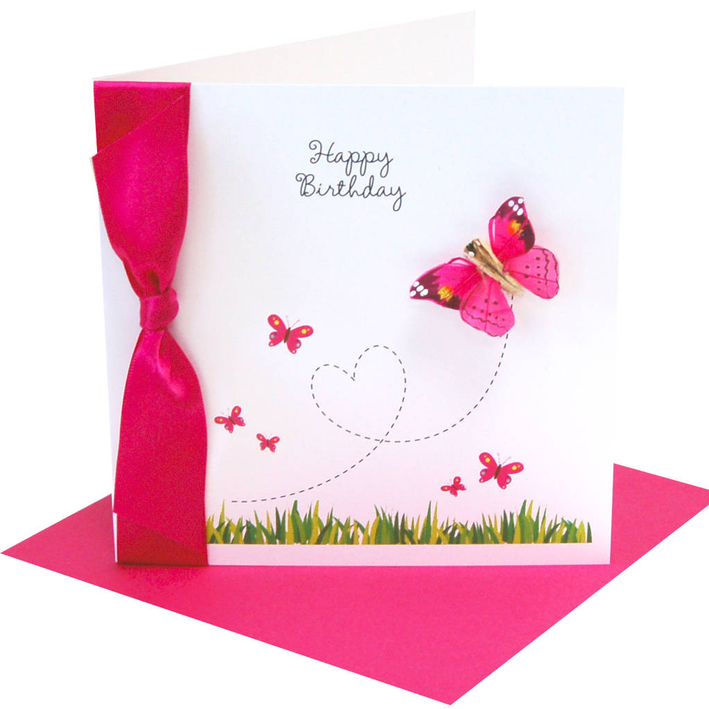 flutter butterfly personalised birthday card by made with love – Butterfly Birthday Card