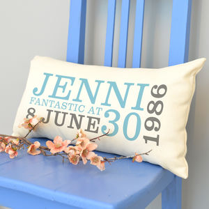Personalised 30th Birthday Rectangular Cushion - whatsnew