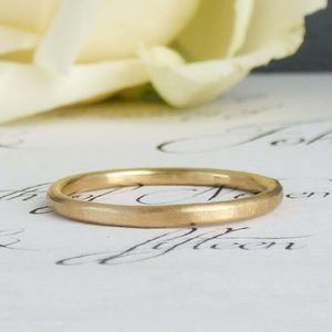 Evie 18ct Fairtrade Gold Ethical Wedding Ring