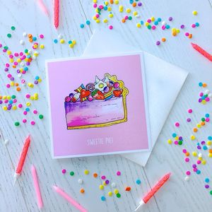 Sweetie Pie! Greetings Card - love & romance cards
