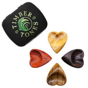 Heart Tones Guitar Picks / Plectrums In A Gift Tin - mens