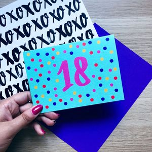 Colourful 18th Birthday Card