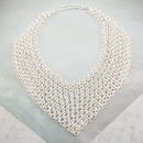 Silver Statement Chainmail Necklace
