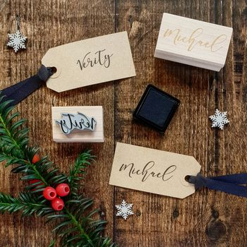 Personalised Calligraphy Name Rubber Stamp