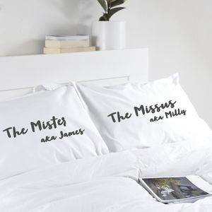 Second Wedding Anniversary Gift Personalised Pillowcase - bedroom