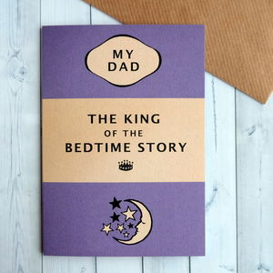 Bedtime Story Father's Day Card - father's day cards