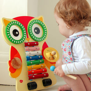 Wooden Owl Musical Instrument Set - traditional toys & games