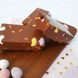 Mini Egg Rocky Road Chocolate Bar - easter chocolate