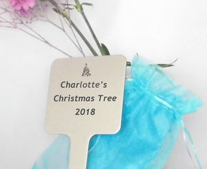 Personalised Engraved Christmas Tree Plaque - art & decorations