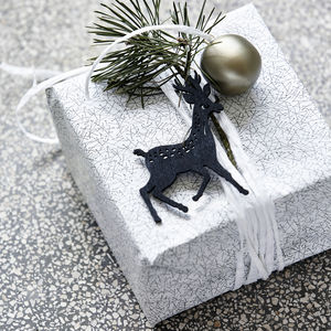 Wooden Reindeer Ornament - gift tags & labels