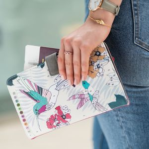 'Colour Me' Hummingbird Travel Wallet