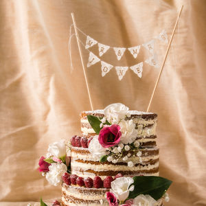 Personalised Wedding Cake Mini Bunting - cakes & treats