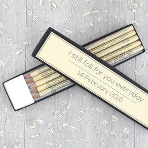 Personalised Dictionary Pencil Set