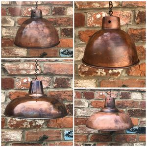 Trendy Distressed Copper Plate Lampshades - lampshades