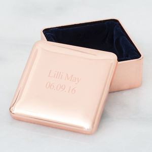Personalised Square Trinket Box - summer sale