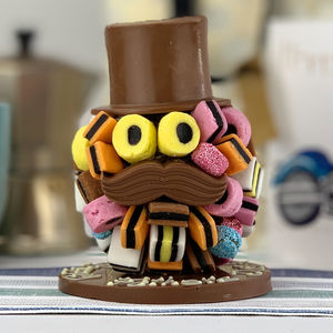 Allsorts Chocolate Head With Hat And Moustache
