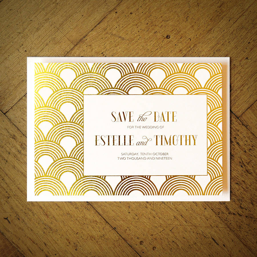 Lovely great gatsby wedding invitation by feel good wedding invitations  FW76