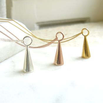Geometric Cone Pendant Necklace