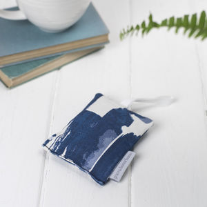 Paloma Lavender Bag, Abstract Blue Brush Strokes - bedroom