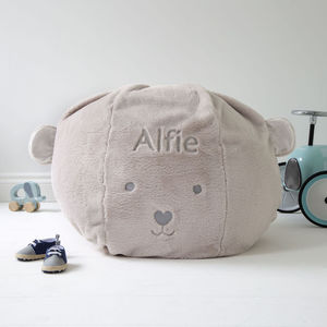 Personalised Children's Bear Bean Bag - baby's room