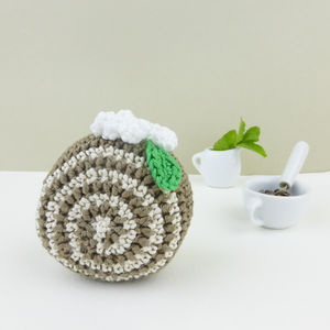 Chocolate Vanilla Sponge Cake Soft Toy Crochet Cake