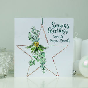 Personalised Star Family Christmas Card Pack