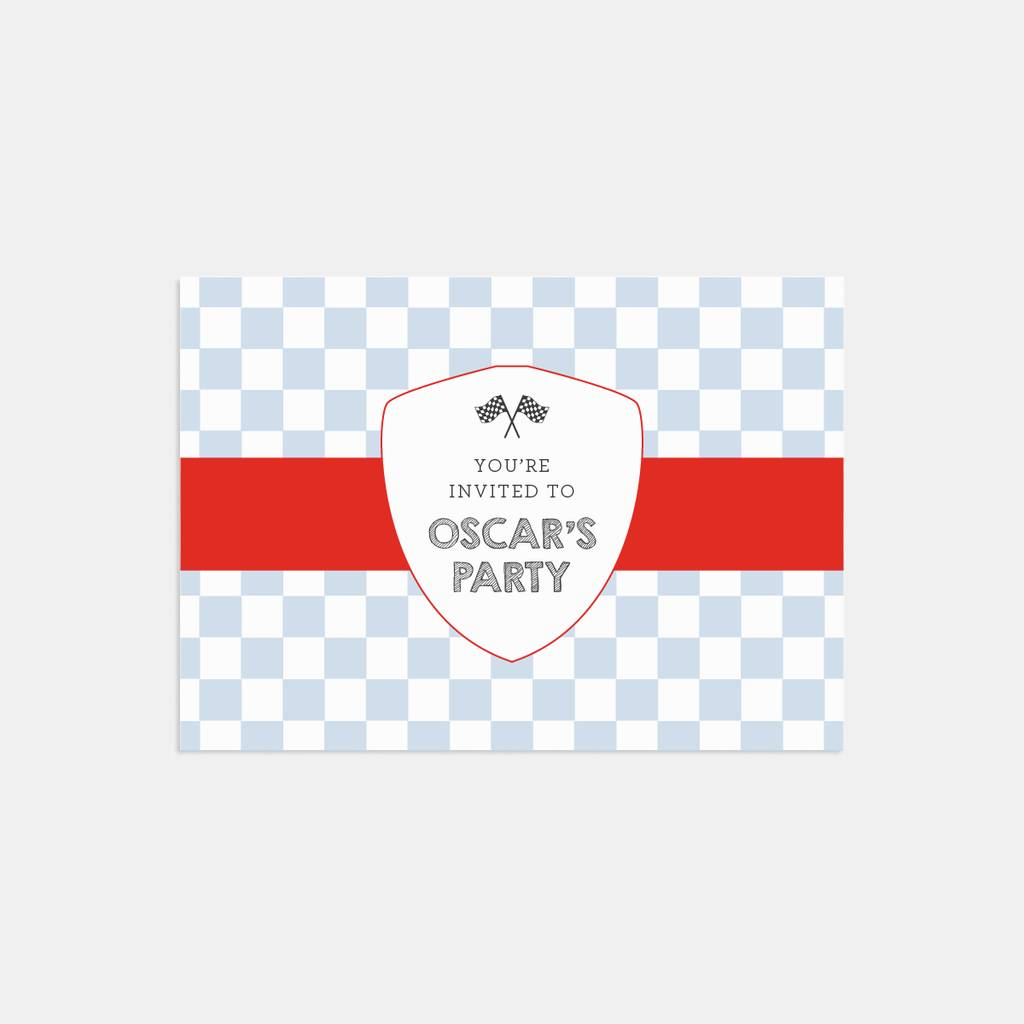 ready steady go personalised party invitations by lola\'s paperie ...