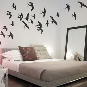 Swallows Wall Stickers - decorative accessories