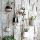 Ceramic Hanging Planter Pot With Jute String