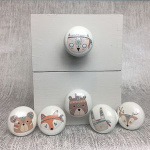 Children's Woodland Animal Cupboard, Drawer Knobs - door knobs & handles