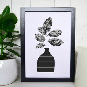 Rubber Plant Illustration Print - drawings & illustrations