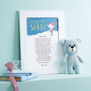 Personalised Letter From Santa Poem