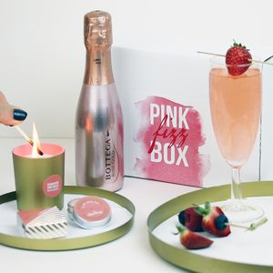 Pink Fizz Gift Box With Pink Prosecco
