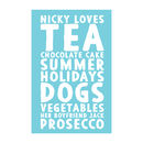 Personalised Loves Tea Towel