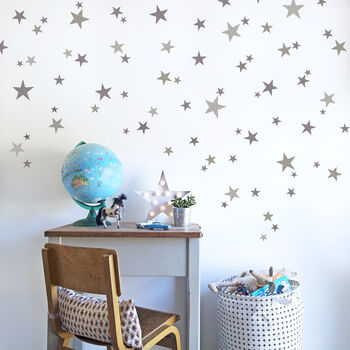 Star Wall Stickers In Various Colours