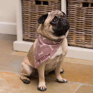 Personalised Linen Dog Neckerchiefs - view all new