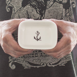 Ceramic Themed Soap Dish - bathroom
