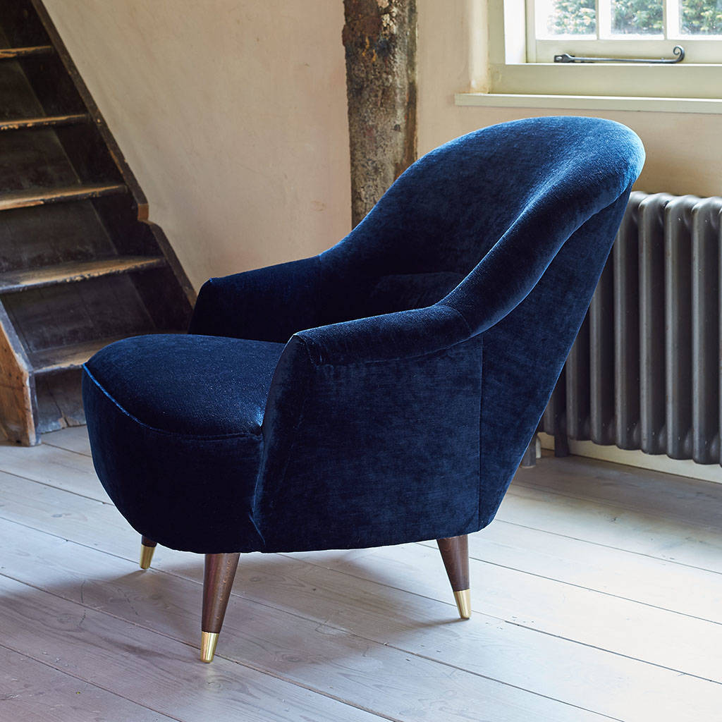 The New Pinta Armchair In Luxe Velvet
